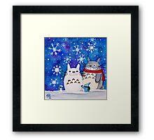 Totoro Winter Wonderland  Framed Print