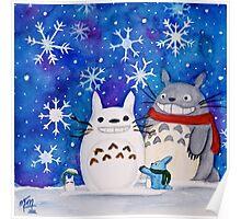 Totoro Winter Wonderland  Poster