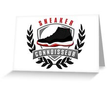 Sneaker Connoisseur-J11 Bred Greeting Card