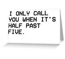 THE WEEKND CALL Greeting Card