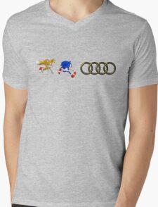 Sonic & Tails Audi Rings Mens V-Neck T-Shirt