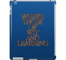 Ravenclaw - Where Those of Wit and Learning iPad Case/Skin