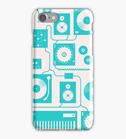 Four To The Floor - Teal iPhone Case/Skin