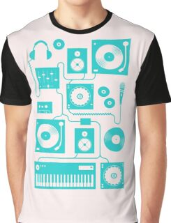 Four To The Floor - Teal Graphic T-Shirt