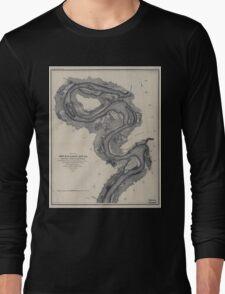Civil War Maps 1167 Mississippi River Long Sleeve T-Shirt