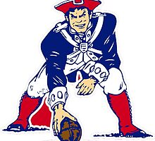 New England Patriot Old by haroldlfonville