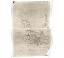 Civil War Maps 1611 Sketch of country between Haxall's Landing and Charles City court house reconnoissances sic under the direction of Brig Genl AA Humphreys Comdg Topl Engr's Poster