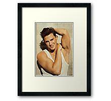 Vintage Channing Tatum  Framed Print