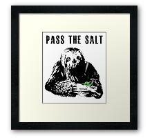 Stoner Sloth - Pass the salt 2 Framed Print