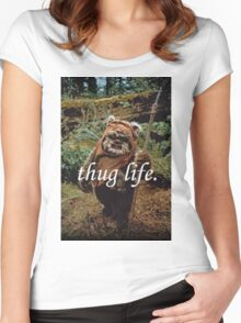 Ewok Thug Life Women's Fitted Scoop T-Shirt