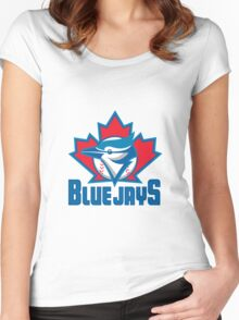 Toronto Blue Jays Logo Women's Fitted Scoop T-Shirt