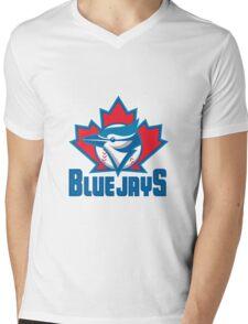 Toronto Blue Jays Logo Mens V-Neck T-Shirt