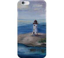 Nassau Harbour Lighthouse Original Painting iPhone Case/Skin
