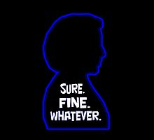 Scully Silhouette Sure Fine Whatever by XFAgent