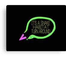 Liam Snake Habitat Tweet Design Canvas Print