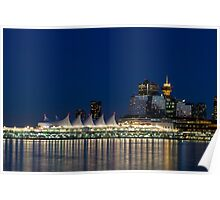 Vancouver at Blue Hour Poster