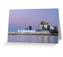 Vancouver's Canada Place After Sunset Greeting Card