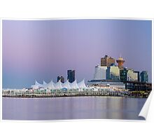 Vancouver's Canada Place After Sunset Poster