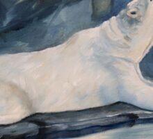 Praying Polar Bear Original Oil Painting Sticker