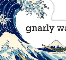 Gnarly Great Wave Sticker