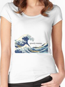 Gnarly Great Wave Women's Fitted Scoop T-Shirt