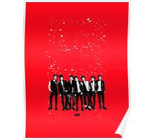 iKON 'Welcome Back' Red Poster