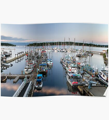 Fishing Boats at Nanaimo Harbour Poster