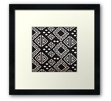 Black and White Aztec Framed Print