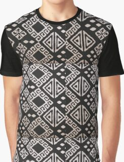 Black and White Aztec Graphic T-Shirt