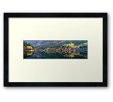 Silver Lake Fall Panorama Framed Print