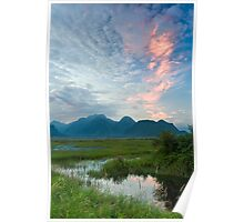 The Pitt River and Coast Mountains Poster