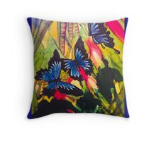 Ulysses in jungle Throw Pillow