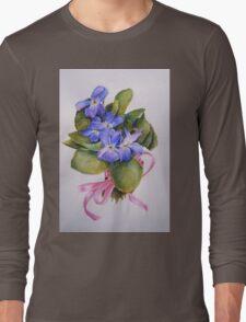 Bouquet for Judi Watercolour Painting Long Sleeve T-Shirt