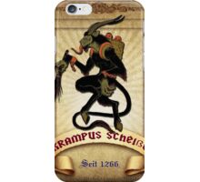 Krampus S#t Gag Label iPhone Case/Skin