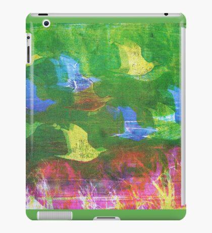 Flying Birds Monoprint iPad Case/Skin