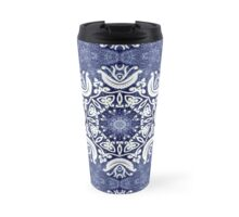 Blue snow pattern Travel Mug
