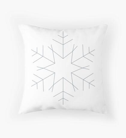 Lonely snowflake Throw Pillow