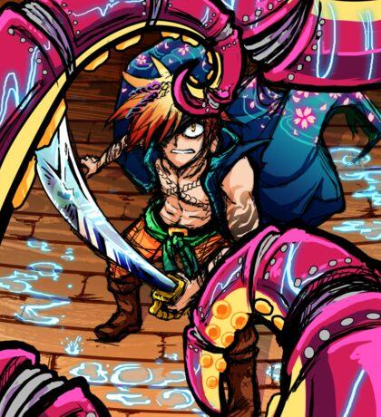 Pirate vs Mecha Sticker