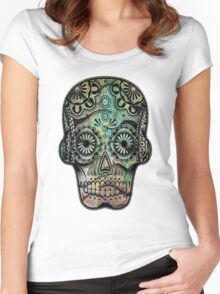 Aztec Skull III Women's Fitted Scoop T-Shirt