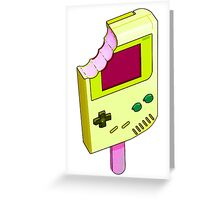 Strawberry Banana Gameboy Greeting Card
