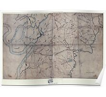 Civil War Maps 2100 Map of the environs of Vicksburg Mississippi 1863 Poster