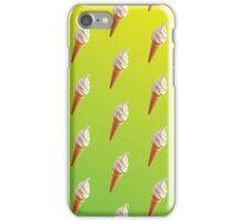 IceCream Pattern Green and Yellow  iPhone Case/Skin