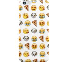 Emoji Pattern Mix White iPhone Case/Skin