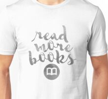 READ MORE BOOKS (SILVER) Unisex T-Shirt