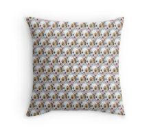 Dog Emoji Pattern Throw Pillow