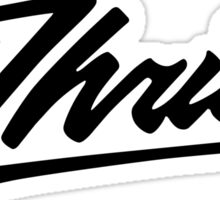Thrilla Black Sticker