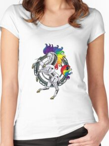 All Hail the Robot Unicorn 2 Women's Fitted Scoop T-Shirt