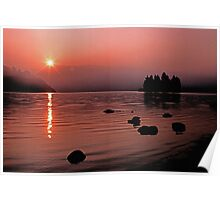 Sunrise at Lake Eleanor Poster