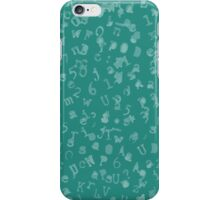 Static Letters - Teal iPhone Case/Skin
