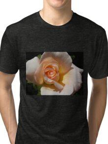 Peach Rose Bud Tri-blend T-Shirt